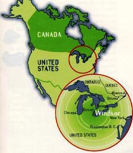 Windsor in North America