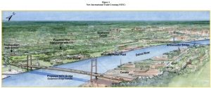 Concept art for Gordie Howe Bridge