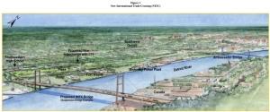 Concept art for Gordie Howe Bridge